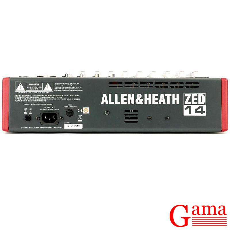 Allen Heat ZED 14 back tył rear Allen & Heath ZED 14 mikser audio