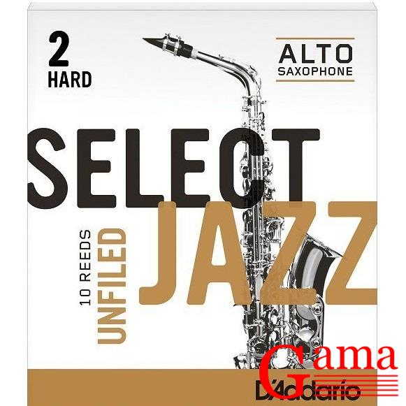 D'addario Select Jazz Unfiled 2 Hard RRS10ASX2H stroik do saksofonu altowego