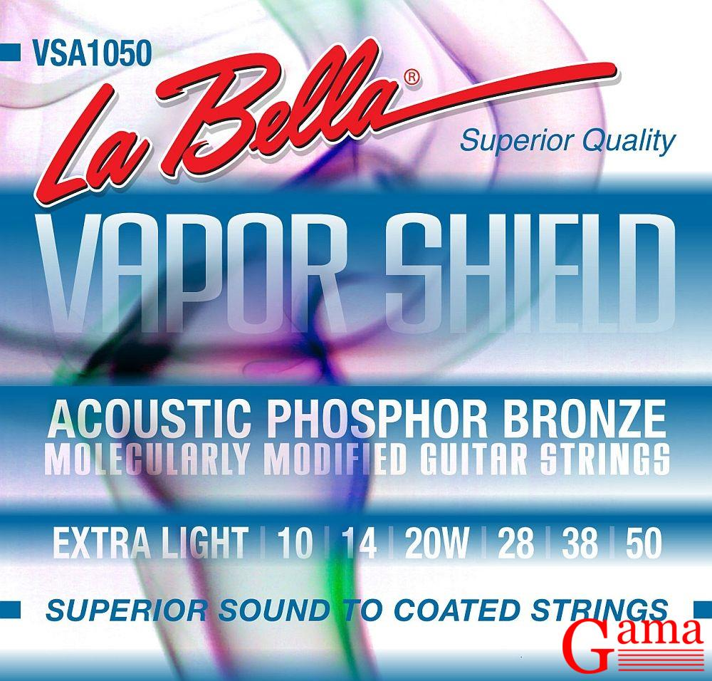 La Bella Vapor Shield VSA 1050 phosphor bronze  struny do gitary akustycznej  ( 10- 50 )
